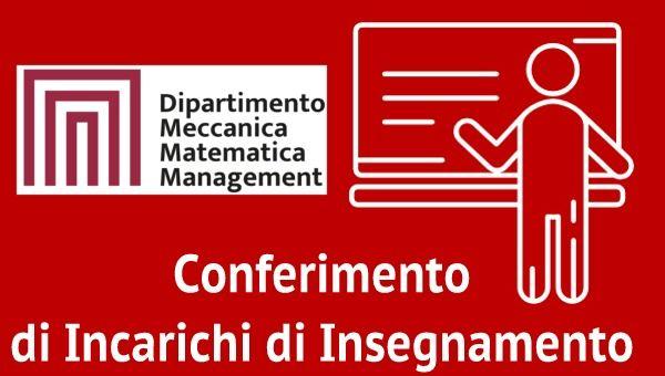 Bando di Selezione n. 3 per il Conferimento di Incarichi di Insegnamento Afferenti al DMMM A.A. 2021/2022